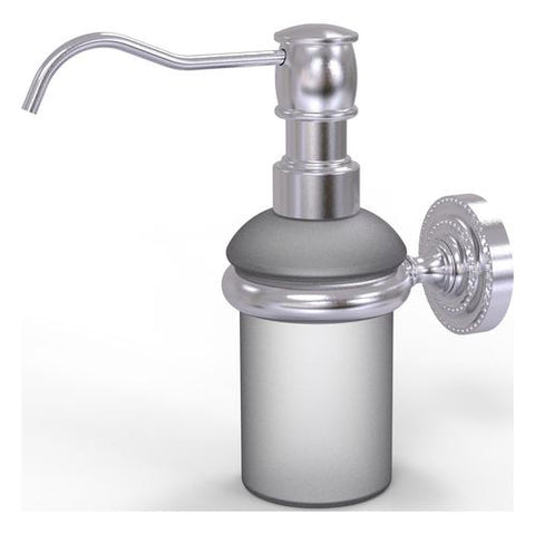 Wall mounted brass lotion and soap dispenser