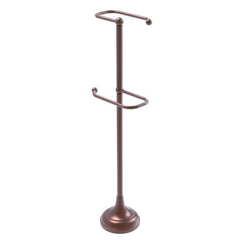 freestanding dual toilet paper holder Allied Brass