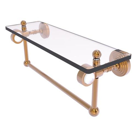 Brass and glass shelf with towel bar Allied Brass