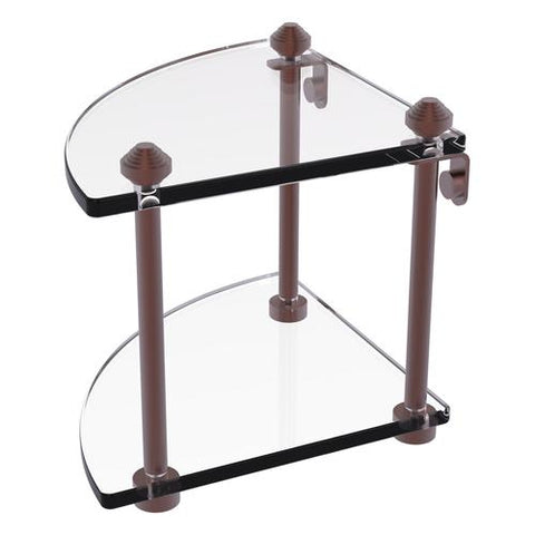 Corner brass and glass shelf Allied Brass