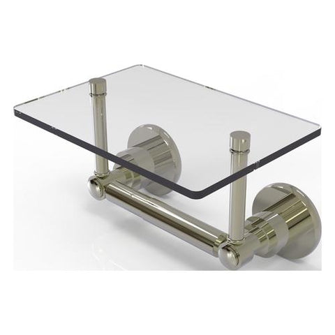 Toilet paper holder with glass shelf Allied Brass Canada