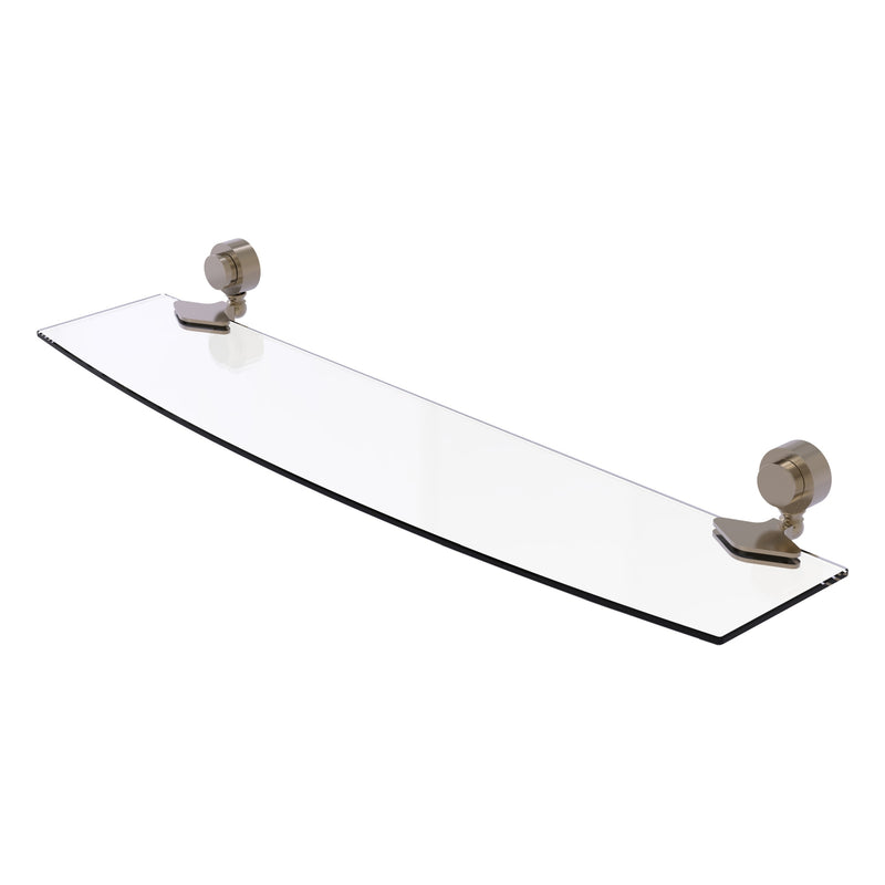 Venus Collection Glass Shelf with Smooth Accents
