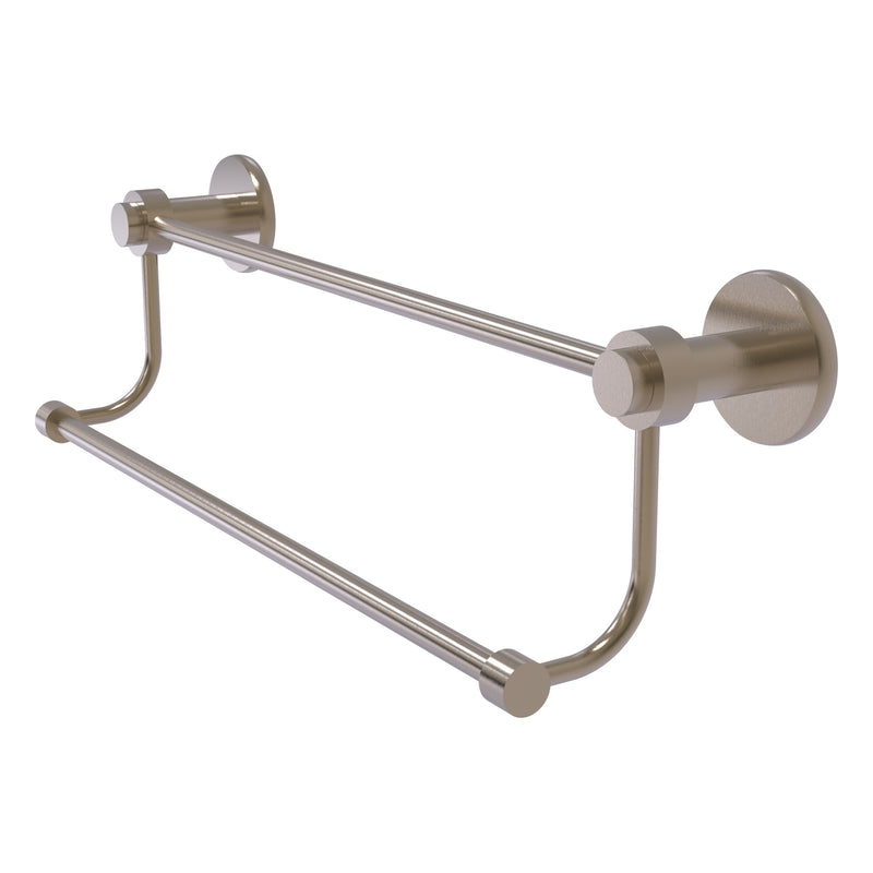 Mercury Collection Double Towel Bar with Smooth Accents