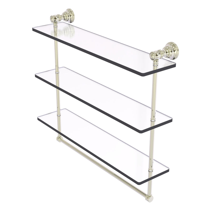 Carolina Collection Triple Glass Shelf with Towel Bar
