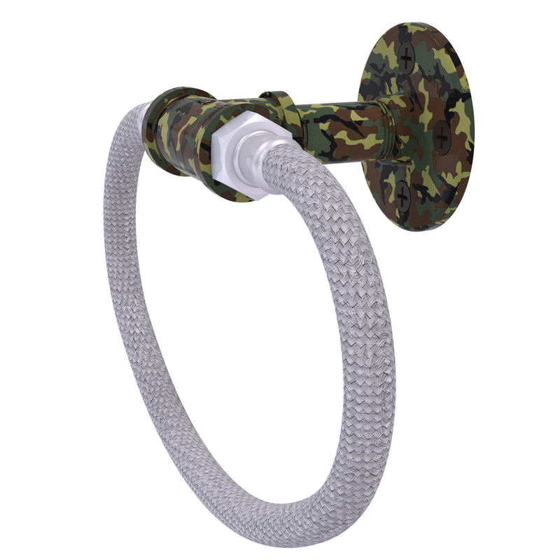 Camo Collection Towel Ring with Stainless Steel Braided Ring
