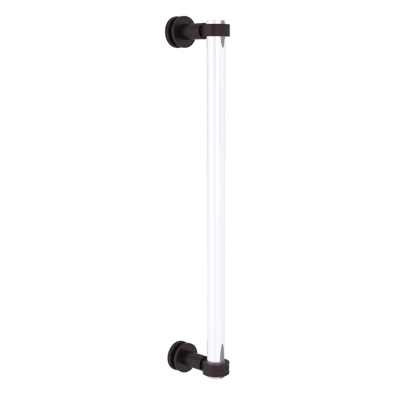 Clearview Collection Single Side Shower Door Pull with Smooth Accents
