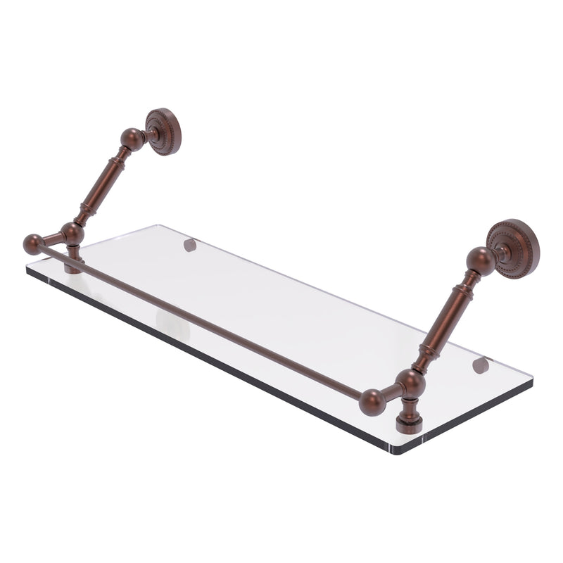 Dottingham Floating Glass Shelf with Gallery Rail