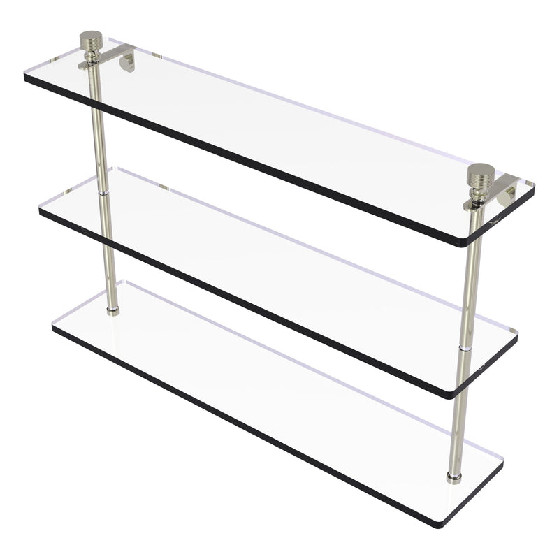 Foxtrot Collection Triple Tiered Glass Shelf