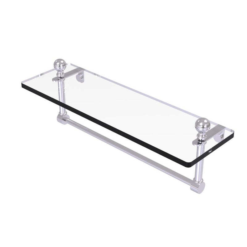 Mambo Collection Glass Vanity Shelf  with Integrated Towel Bar