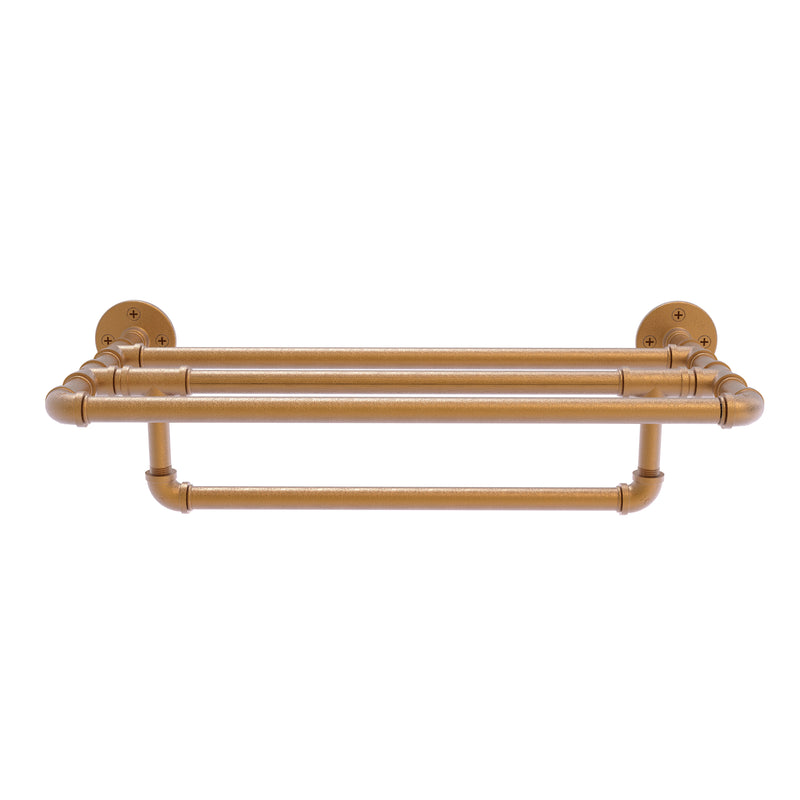 Pipeline Collection Wall Mounted Towel Shelf with Towel Bar