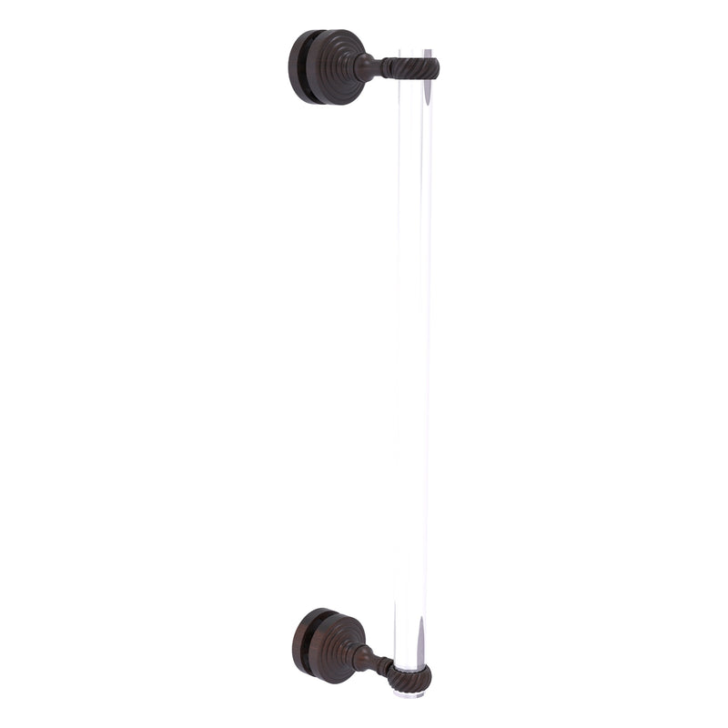 Pacific Grove Collection Single Side Shower Door Pull with Twisted Accents