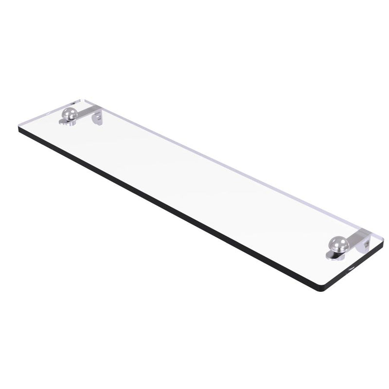 Glass Vanity Shelf with Beveled Edges
