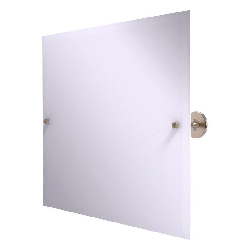 Shadwell Collection Frameless Landscape Rectangular Tilt Mirror with Beveled Edge