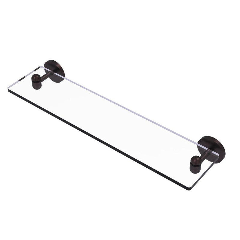 Tango Collection Glass Vanity Shelf with Beveled Edges
