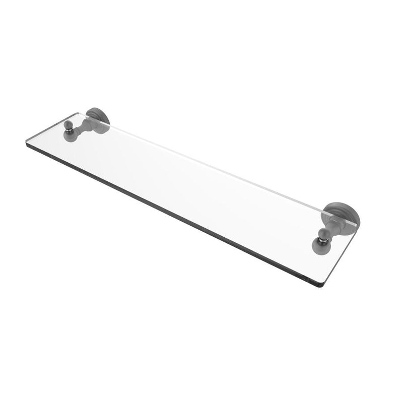 Waverly Place Collection Glass Vanity Shelf with Beveled Edges