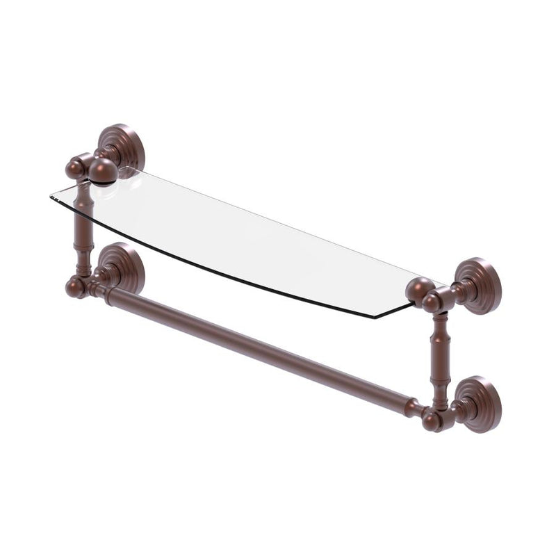 Waverly Place Collection Glass Vanity Shelf  with Integrated Towel Bar