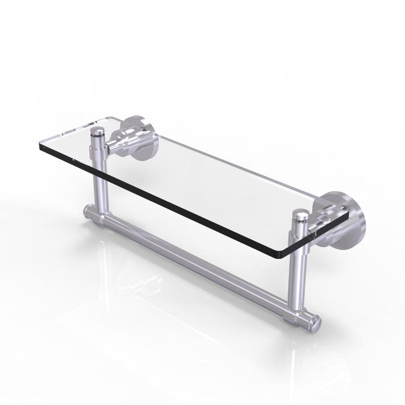 Washington Square Collection Glass Vanity Shelf  with Integrated Towel Bar