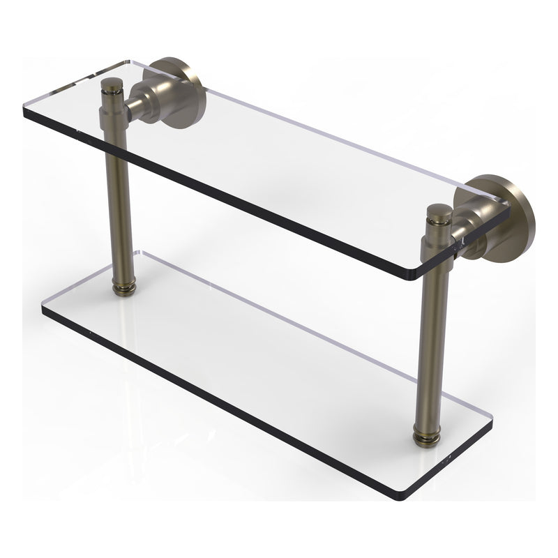 Washington Square Collection Two Tiered Glass Shelf