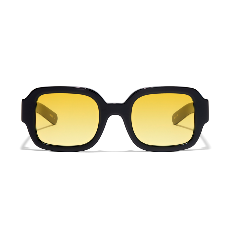 Tishkoff - Solid Black / Solid Yellow Lens
