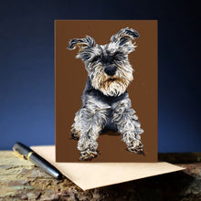 Afbeelding in Gallery-weergave laden, Some Ink Nice - Greeting card Schnauzer