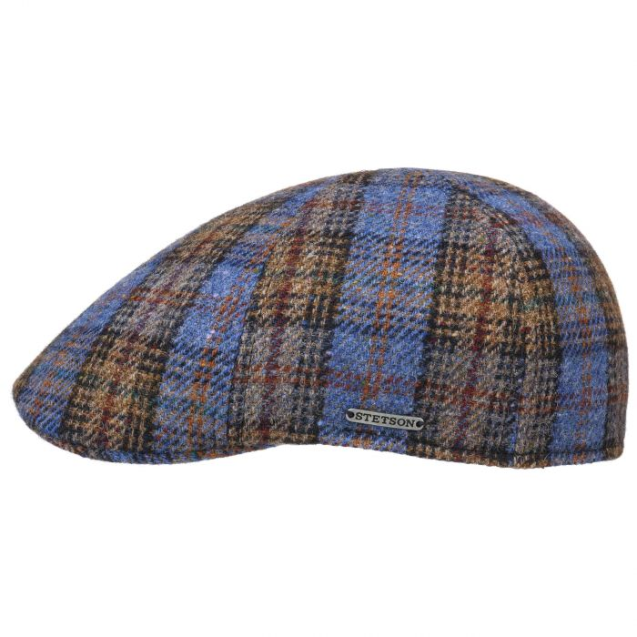 Stetson - Texas Cap Lambswool Plaid Blue