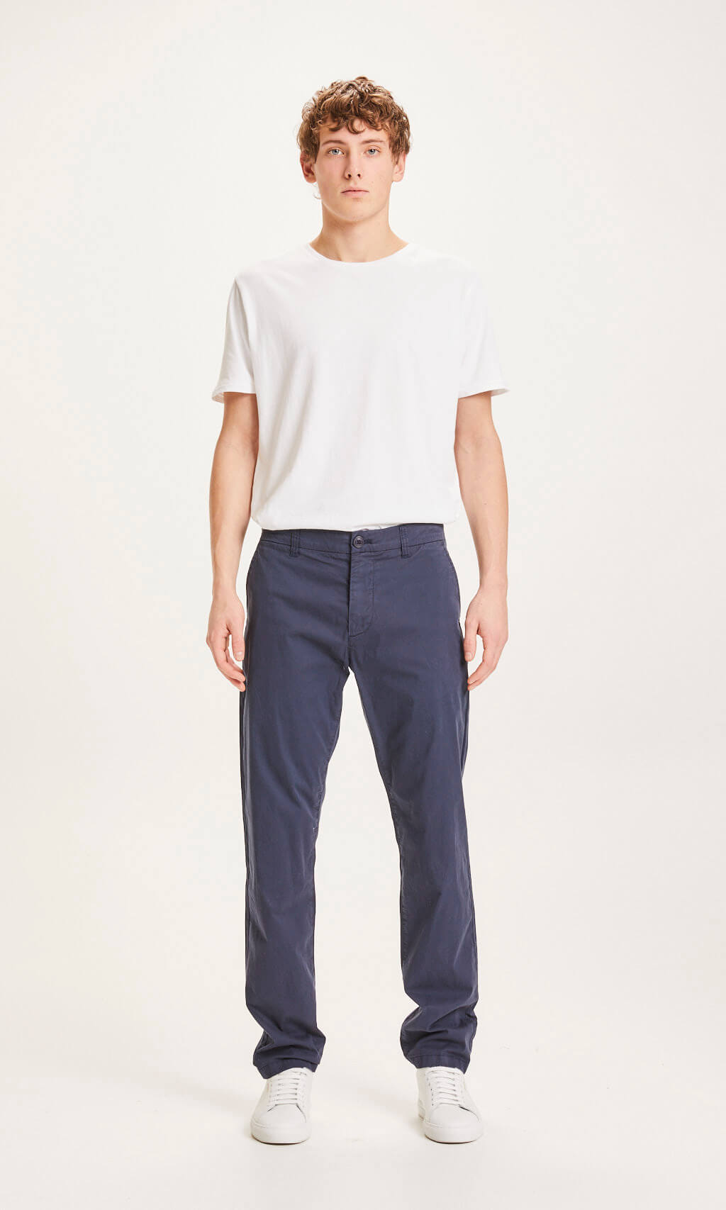 Knowledge Cotton - Chuck Regular Chino Poplin Pant Blue