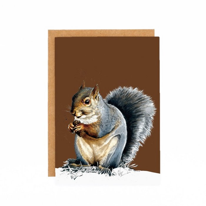 Some Ink Nice - Greeting card Grey Squirrel