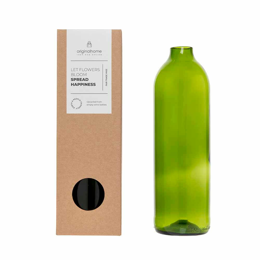 Original Home - Bottle Vase Green