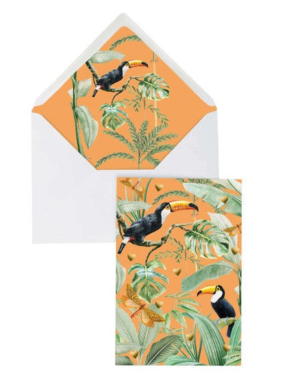 Creative Lab Amsterdam Greeting Card - Flirting Toucans