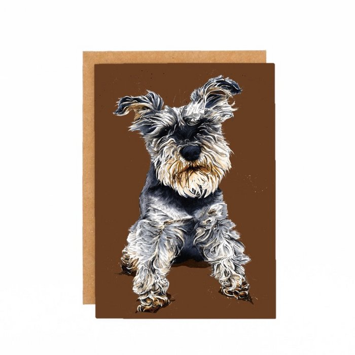 Some Ink Nice - Greeting card Schnauzer
