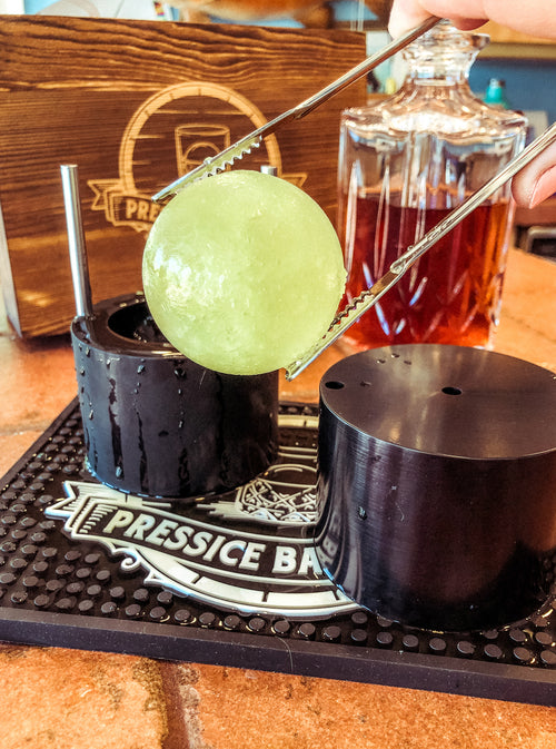 Ice Ball Press Whiskey pickleback interesting new recipe ideas with ice ball presses