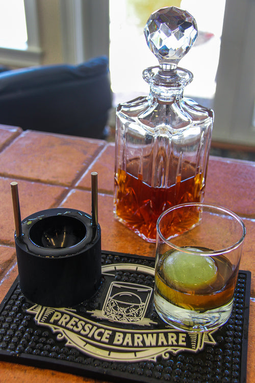 Perfect Pickleback with Whisky Ice Ball Press Pressice Barware Metal Ice Ball Press Ice Ball Maker for at home Bar use