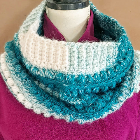 Teal and Sand Cowl