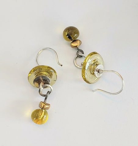 Citrine Disk Earrings