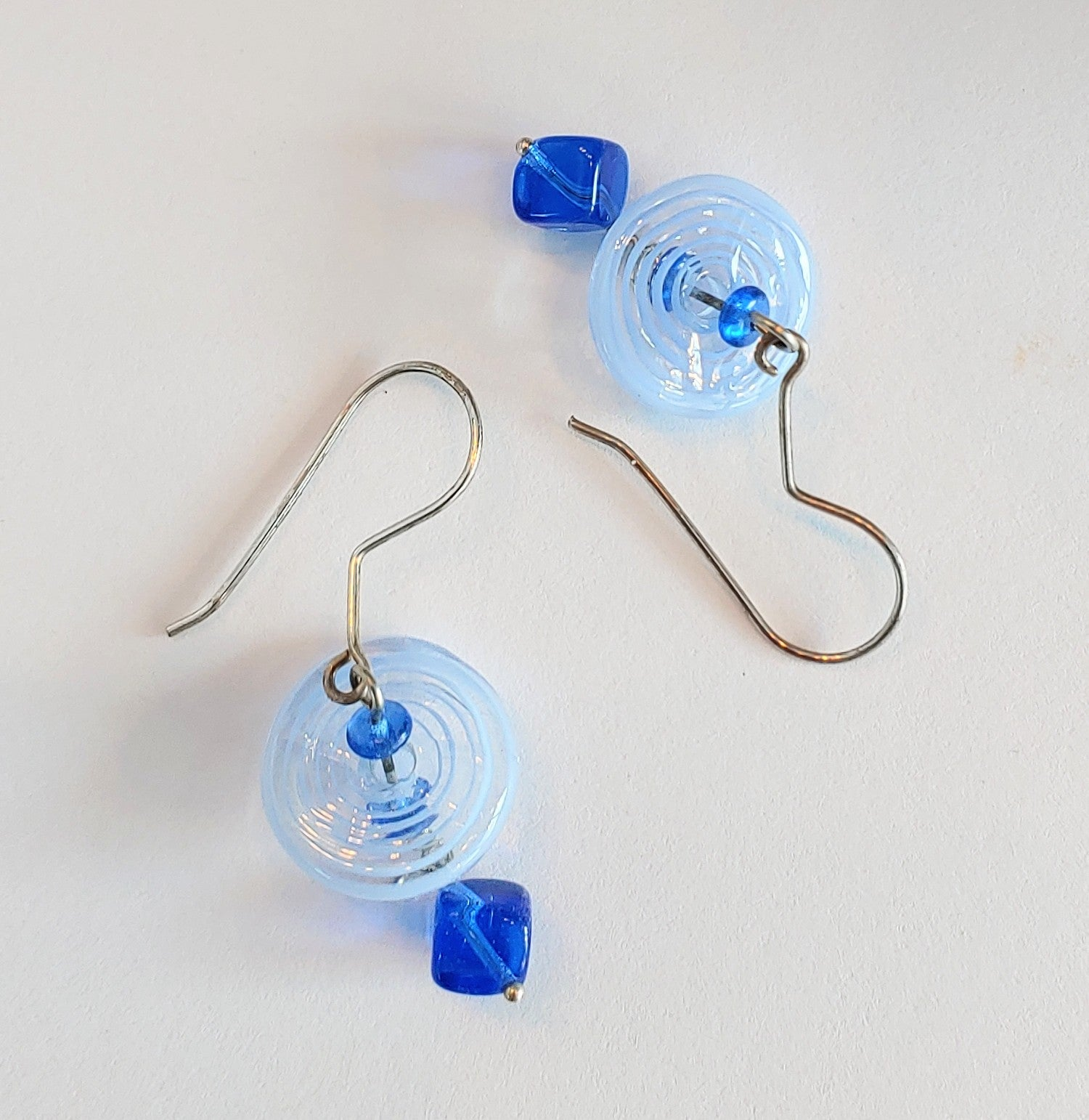 Blue Disk Earrings