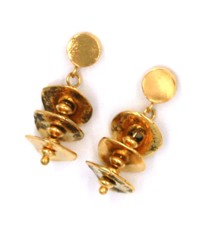 Layers of Gold Earrings