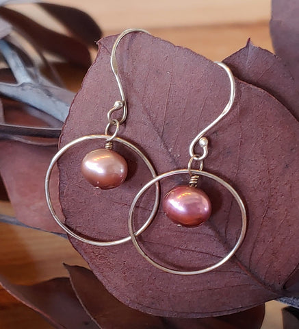 Encircled Pearl Earrings