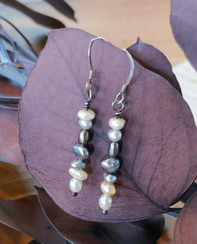 Artfully Stacked Pearl Earrings