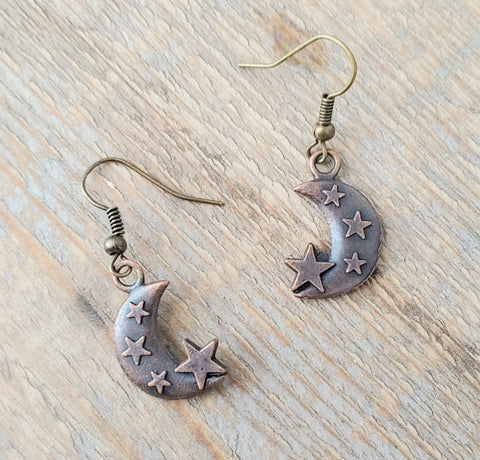 Copper Moon Earrings