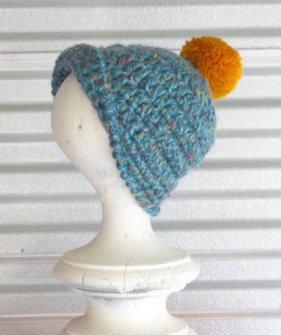 Blue Tweed Hat