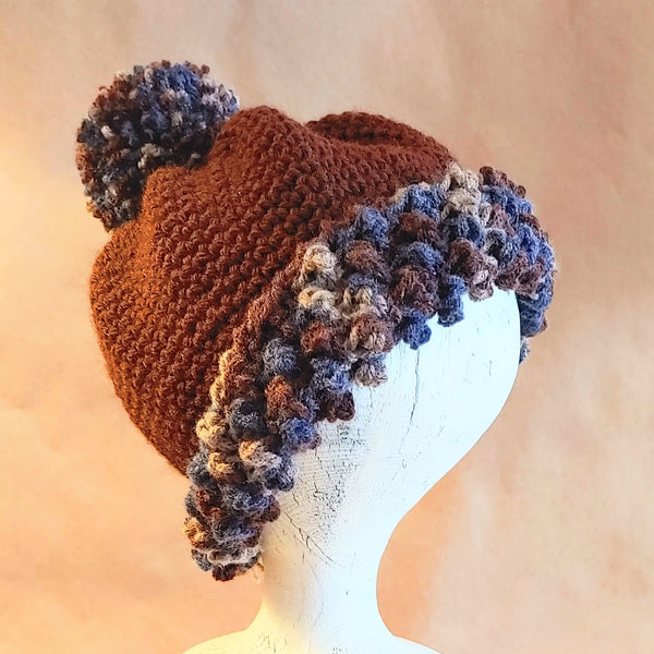 Brown with a Twist Cap