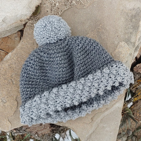Grey Cap with Bobbles