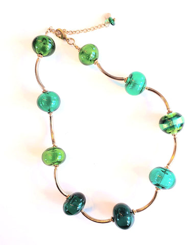 Green Bubbles Necklace
