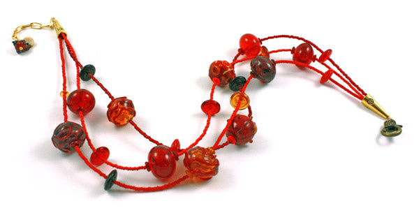 Seeing Red Bubble Necklace