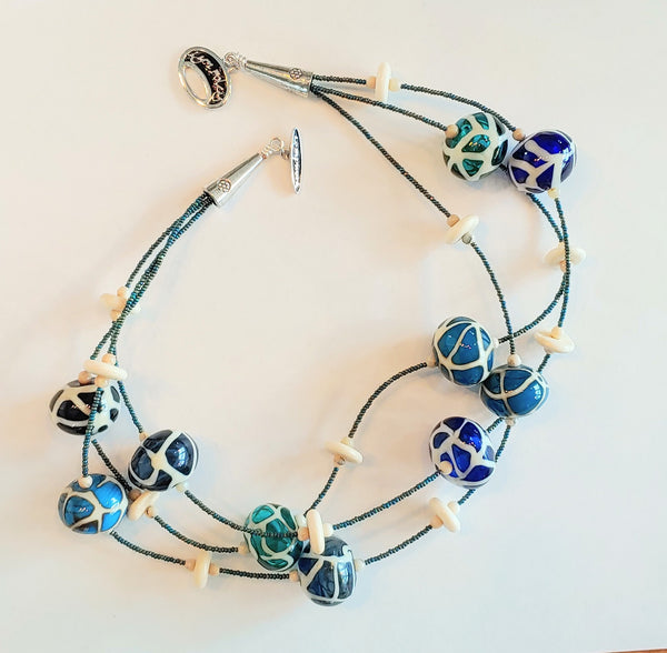 Blue Giraffe Bubble Necklace