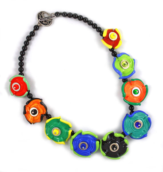 Crayon Box Flowers Necklace