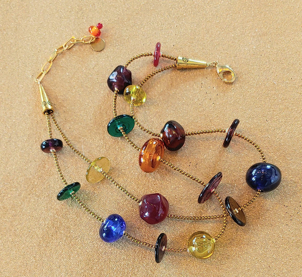 Jewel-Toned Bubble Necklace