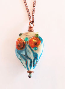 Abstract Poppies Necklace