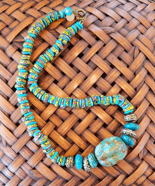 Melon Turquoise Necklace