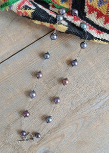 Smokey Heart Pearl Necklace